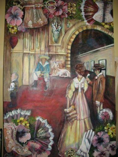 """""""Victorian Station"""" Oil on Canvas by Marike Korting (then Honiball)"""