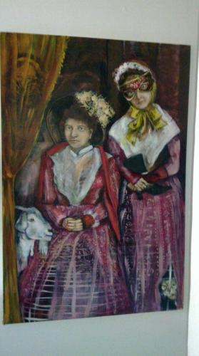 """""""Victorian Parlour"""" Oil on canvas by Marike Korting (then Honiball)"""